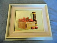 "Vintage Original Still Life oil on canvas painting by Westlake 8"" x 10"""
