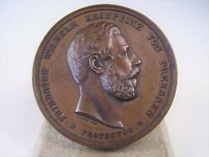Antike Preis Medaille Gew. u. Industrie Ausstellung in Stettin 1855 F.W.v.Preuss