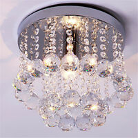 Silver Chrome Crystal Droplights Ceiling Pendant Light Chandelier Fitting Lamp