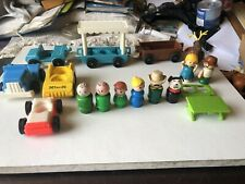 Vintage Fisher Price Little People including dog and Vehicles,  Weebles reindeer