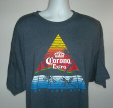 Mens Corona Extra Cerveza Beer T Shirt 3XLT Palm Trees Find Your Beach tropical