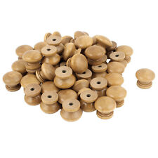 Furniture Drawer Door Cabinet Closet Wood Round Knob Pull Handle 50pcs B7T1