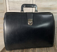 Jack Georges Elements Collection Black Leather Triple Gusset Classic Briefcase