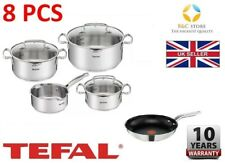 TEFAL DUETTO STAINLESS STEEL COOKWARE SET 8 PCS LID POTS 28 cm PAN KITCHEN best