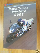 S216 SUZUKI PROSPEKT BROCHURE 2003 ALL MODELS DUTCH 32 PAGES,HAYABUSA 1300,GSX