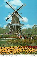 Holland Michigan Tulip Festival, De Zwaan Windmill Island, Gardens MI - Postcard