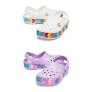 Crocs Crocband Chevron Beaded Clog K Kids Sandals | slipper - NEW