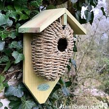 Seagrass Bird house nest box cocoon for wren & small garden birds Best for Birds