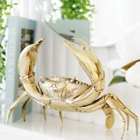 Bronson Brass Rustic Crab X-Large 36cm Hamptons Coastal Home Decor