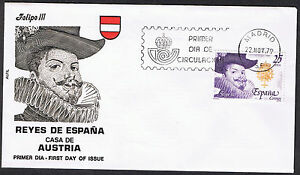 Spanish Kings - House of Hapsburg - First Day Cover 1979 -  SG2602