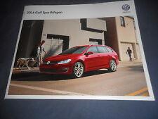 2016 VW Volkswagen Golf Sportwagen USA Market  Brochure Catalog Prospekt