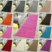 Soft Carpet Thick Plain Hallway Long Runner Pile Anti Slip Shaggy Area Rugs