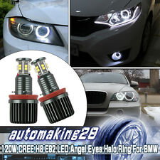 BMW H8 120W CREE LED Angel Eye Halo 750Li 760Li 740Li BMW F01 F02 7-Series