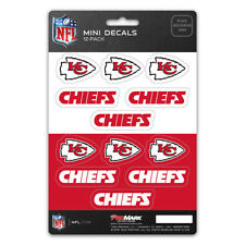Official Licensed - NFL Kansas City Chiefs Vinyl Mini Decal Pack Made in USA