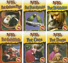 Pet Pals: Pet Guinea Pigs,Gold Fish,Cats,Dogs+by Julia Barnes (6 Hardcover Set)