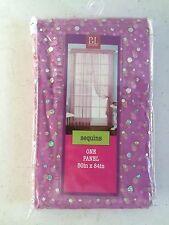 Single Panel Sequin Fuchsia Curtain 50 x 84 Gossamer Funky Hip Boho Arty Glam