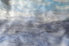Winter Sky Carded Wool Batt 100 -10g Landscape Art Blue Grey Merino Felt or Spin