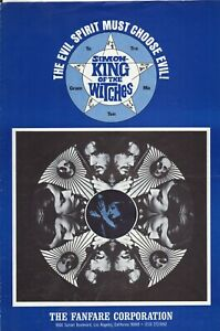 Simon, King of the Witches (1971) Pressbook - free shipping