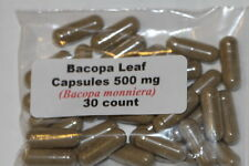 Bacopa Leaf Powder Capsules (Bacopa monnieri)  30 count 500mg