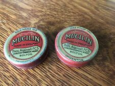 2 old MUCILIN Tins for fly fishing - England