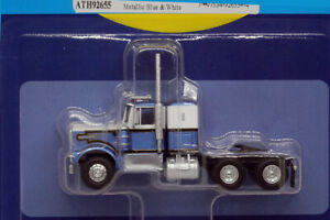 Athearn HO KW Kenworth Owner-Operator Truck Tractor Blue/White 1/87 ATH92655 NEW