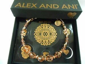 Alex and Ani Color Pallette Peony Bangle Shiny Rose NWTBC
