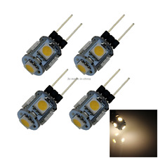 4x Warm White Home G4 Cabinet Light Crystal Droplight Blub 5 5050 SMD LED T006