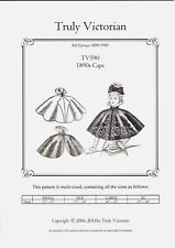 Sewing Pattern for womens 1890's cape wrap Truly Victorian TV590 uncut new