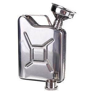 5oz Stainless Steel Pockets Hip Flask Wine Bar Drink Bottle With Funnel HK