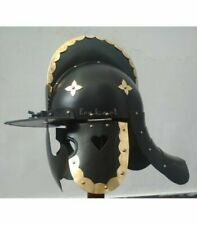 Antique Brass & Steel Black Hussar Helmet Replica Steel Armor Helmet