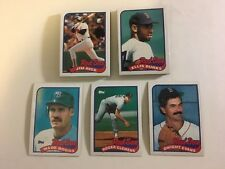 BOSTON RED SOX 1989 Topps Baseball Card Team Set 28 Cards Boggs Clemens Rice NM