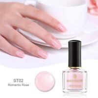 BORN PRETTY 6ml Jelly Nail Polish Pink Translucent Nail Art  Varnish