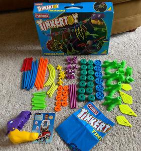 99% Complete Vintage 90's Playskool Tinker Toys TINKERSAURUS Rare Dinosaur Set