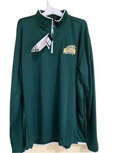 George Mason Patriots Adidas Size Large Quarter 1/4 Zip Pullover Women's Nwt