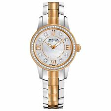 Bulova Accutron Women's 65R145 Masella Diamond Markers Two-Tone 28mm Watch