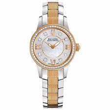 Bulova Accutron Women's 65R145 Masella Diamond Markers Two-Tone 28mm Watch