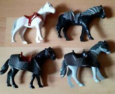 Playmobil Custom Knight Castle Horse Figure Bundle x 4