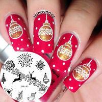 BORN PRETTY Nail Stamping Plates  Xmas Deer Fireworks Nail Art Image Template