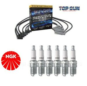 IGNITION LEADS +NGK SPARK PLUGS for HOLDEN COMMODORE VR 3.8 1993-1995