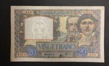 FRANCE  20 FRANCS SCIENCE ET TRAVAIL de 1941  ETAT : TB  Réf. D 3111