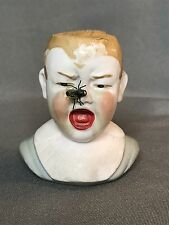 Antique German Bisque Pin Cushion Baby Fly Half Doll Figurine Heubach Victorian