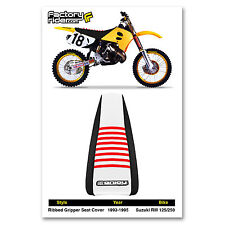1993-1995 SUZUKI RM 125 Black/White/Red RIBBED SEAT COVER BY Enjoy MFG