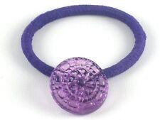 Purple Button Ponytail Holder Bracelet Handmade Hair Accessory