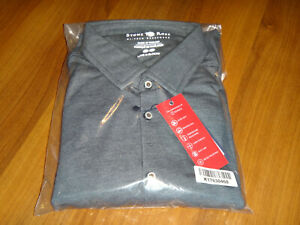 STONE ROSE LARGE NAVY BUTTON DOWN SHIRT T-SERIES BRAND NEW