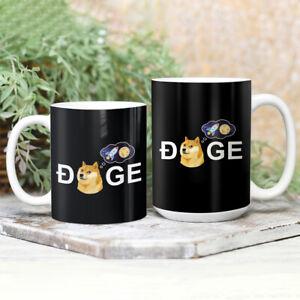 Dogecoin Doge HODL To the Moon Meme Elon 11Oz 15Oz Gift Coffee, Tea Mug