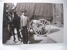 Early negative & photo Delivery wagon w horse Downtown Pittsburgh PA
