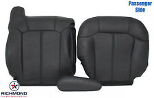 99-02 Chevy Silverado LT HD -Passenger Side Complete Leather Seat Covers Dk Gray