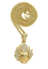 "20"" Cuban Chain Vegeta Pendant With"