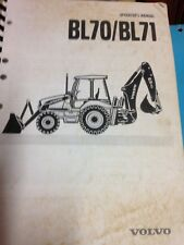 Volvo Backhoe Loader Operator Manual BL70/71