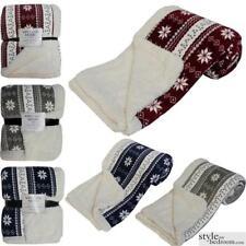 Роскошный супер мягкий толстый Nordic джемпер стиль диван / кровать флис меха броска одеяло